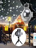 tanie Koszulki i tank topy męskie-oprawa do projektora oprawa śniegu ip65 wodoodporna musujące krajobraz projekcja światła do dekoracji oświetlenie z pilotem 32ft kabel zasilający włączony