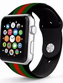 olcso Karóra tartozékok-Valódi bőr / Silica Gel Nézd Band Szíj mert Apple Watch Series 4/3/2/1 Kék 23cm / 9 inch 2.1cm / 0.83 Hüvelyk