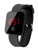 povoljno Digitalni satovi-Muškarci digitalni sat Šiljci za meso Silikon Crna / Bijela / Crvena 30 m Vodootpornost LCD Šiljci za meso Ležerne prilike Moda - Crvena Zelen Plava