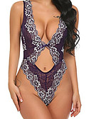 cheap Women's Nightwear-Women's Sexy Babydoll & Slips Nightwear - Lace Jacquard / Deep V