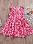 Χαμηλού Κόστους Βρεφικά φορέματα-Μωρό Κοριτσίστικα Ενεργό Αργίες / Παραλία Στάμπα Στάμπα Αμάνικο Κανονικό Κανονικό Πάνω από το Γόνατο Πολυεστέρας Φόρεμα Ρουμπίνι / Νήπιο