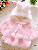 levne Dětské bundičky a kabátky-Dítě Dívčí Základní Denní Jednobarevné Dlouhý rukáv Standardní Bavlna Bundičky a kabáty Fialová / Toddler