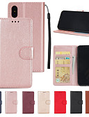 cheap iPhone Cases-Case For Apple iPhone XS / iPhone XS Max Wallet / Card Holder / with Stand Full Body Cases Solid Colored Hard PU Leather for iPhone XS / iPhone XR / iPhone XS Max