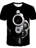 billige T-skjorter og singleter til herrer-T-skjorte Herre - Geometrisk / Fargeblokk, Trykt mønster Aktiv / Gatemote
