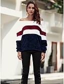 tanie Swetry damskie-Damskie Podstawowy Pulower - Patchwork, Kolorowy blok