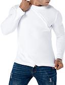 baratos Camisetas & Regatas Masculinas-t-shirt justa para homem - gola redonda de cor sólida