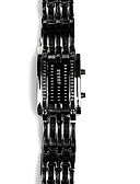 cheap Square & RectangularWatches-Men's Digital Watch Japanese Quartz Black / Silver 30 m Water Resistant / Waterproof Digital Luxury - Black Silver Two Years Battery Life / Stainless Steel
