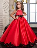 ราคาถูก Wedding Party Dresses-A-line Maxi ชุดสาวดอกไม้ - Poly&Cotton Blend เสื้อไม่มีแขน อัญมณี กับ ลูกไม้ โดย LAN TING Express