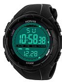 hesapli Dijital Saatler-Erkek Spor Saat Dijital saat Japonca Dijital Silikon Siyah 30 m Su Resisdansı Alarm Takvim Dijital Moda - Siyah Siyah / Mavi / Kronograf / Kronometre / Gece Parlayan