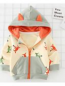 levne Dětské bundičky a kabátky-Dítě Dívčí Základní Denní Barevné bloky Dlouhý rukáv Standardní Bavlna / Polyester Bundičky a kabáty Žlutá