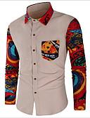 povoljno Muške košulje-Majica Muškarci - Ulični šik Dnevno Color block