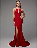 זול שמלות ערב-בתולת ים \ חצוצרה קולר שובל סוויפ \ בראש ספנדקס גב יפהפייה ערב רישמי שמלה עם שסע קדמי על ידי TS Couture®