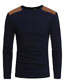 preiswerte Herren Pullover & Strickjacken-Herrn Alltag Solide Langarm Standard Pullover Schwarz / Dunkelgray XL / XXL / XXXL