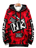 cheap Men's Hoodies & Sweatshirts-Men's Plus Size Basic Long Sleeve Hoodie - Camouflage Hooded Red XXL
