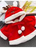 povoljno Vanjska odjeća za bebe-Dijete Djevojčice Osnovni Jednobojni Dugih rukava Normalne dužine Pamuk / Poliester Jakna i kaput Red 100
