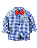 رخيصةأون كنزات البيبي صبيان-قميص قطن كم طويل لون سادة أساسي للصبيان طفل / طفل صغير