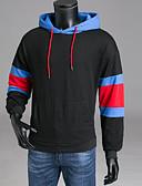 ieftine Tricou Bărbați-Bărbați Pantaloni - Mată / Geometric Negru XXXL / Capișon / Manșon Lung