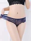 cheap Panties-Women's Normal Cotton Super Sexy Shorties & Boyshorts Panties - Lace, Solid Colored Low Waist Beige Fuchsia Light Blue One-Size