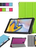 זול מארז Samsung-מגן עבור Samsung Galaxy Tab S2 8.0 / Tab A 8.0 (2017) / Tab A 8.0 עם מעמד / נפתח-נסגר / אוריגמי כיסוי מלא אחיד קשיח עור PU