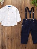 ieftine Seturi Îmbrăcăminte Băieți-Copii / Copil Băieți Activ / De Bază Petrecere / Zilnic Mată Manșon Lung Regular Bumbac / Poliester / Spandex Set Îmbrăcăminte Alb