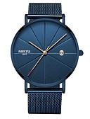 cheap Steel Band Watches-Men's Dress Watch Wrist Watch Japanese Japanese Quartz 30 m Water Resistant / Water Proof Calendar / date / day Stainless Steel Band Analog Fashion Blue / Silver - Blue Silver / Black