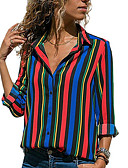 cheap Women's Shirts-Women's Basic Shirt - Striped