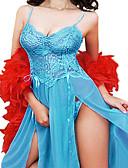 זול חלוקים & Sleepwear-בגדי ריקוד נשים מידות גדולות חצאיות - צבע אחיד תחרה / מפוצל שחור סגול כחול בהיר XXXXL XXXXXL XXXXXXL / סקסית