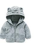 povoljno Vanjska odjeća za bebe-Dijete Djevojčice Osnovni Jednobojni Dugih rukava Normalne dužine Pamuk / Poliester Jakna i kaput Blushing Pink 100
