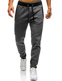 povoljno Muške duge i kratke hlače-Muškarci Širok kroj Chinos / Sportske hlače Hlače - Color block Crn