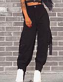 povoljno Bikinis-Žene Ulični šik Dnevno Izlasci Cargo hlače Hlače - Jednobojni Pamuk Zima Djetelina Crn Žutomrk M L XL / Sexy