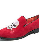 ieftine Salopete Damă-Bărbați Pantofi de noutate Imitație Piele / PU Primavara vara Clasic / Vintage Mocasini & Balerini Purtați Proof Negru / Rosu