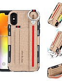 billige iPhone-etuier-Etui Til Apple iPhone X / iPhone XS Max Kortholder / Stødsikker / Støvsikker Bagcover Ensfarvet Blødt TPU for iPhone XS / iPhone XR / iPhone XS Max