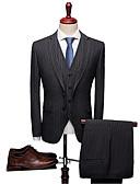 זול טוקסידו-אחיד / פסים גזרה רגילה ספנדקס / פוליסטר חליפה - פתוח Single Breasted One-button