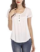 billiga Skjorta-Enfärgad T-shirt Dam Ledig Ljusblå XXXL