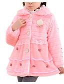 povoljno Vanjska odjeća za bebe-Dijete Djevojčice Osnovni Dnevno Jednobojni Dugih rukava Normalne dužine Pamuk Odijelo i sako Blushing Pink 110 / Dijete koje je tek prohodalo