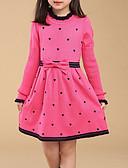 זול שמלות לבנות-שמלה שרוול ארוך גיאומטרי בסיסי בנות ילדים