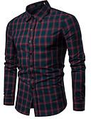 povoljno Muške košulje-Majica Muškarci - Osnovni Dnevno Karirani uzorak