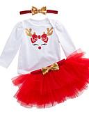 cheap Baby Girls' Clothing Sets-Baby Girls' Active Daily Print Long Sleeve Regular Polyester Clothing Set Green / Toddler