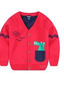 povoljno Džemperi i kardigani za dječake-Djeca Dječaci Osnovni Dnevno Jednobojni Dugih rukava Normalne dužine Pamuk Džemper i kardigan Navy Plava