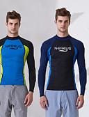 ieftine Jachete & Paltoane Bărbați-Bărbați Bariere Iritatie Protecție UV la soare Nailon / Elastan Manșon Lung Costume de Baie Costum de plajă Costume de scafandru / Topuri Înot / Surfing / Snorkeling / Strech