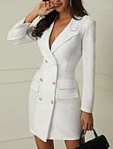 olcso Szalagavató ruhák-Női Elegáns Vékony Nadrág - Egyszínű Fehér / Mély-V / Sexy