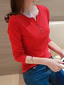 billige Topper til damer-T-skjorte Dame - Ensfarget Grunnleggende