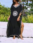 ราคาถูก ชุดว่ายน้ำและบิกินีผู้หญิง-สำหรับผู้หญิง สีดำ กระโปรง รวมด้วย ชุดว่ายน้ำ - รูปเรขาคณิต ลายพิมพ์ ขนาดเดียว