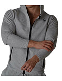 זול סוודרים וקרדיגנים לגברים-אחיד / גיאומטרי קפוצ'ון סגנון רחוב בגדי ריקוד גברים
