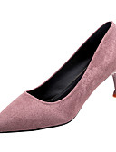 cheap Prom Dresses-Women's PU(Polyurethane) Winter Minimalism Heels Kitten Heel Pointed Toe Light Purple / Red / Blue