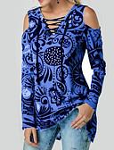 tanie Bikini i odzież kąpielowa-T-shirt Damskie Podstawowy, Nadruk Geometric Shape