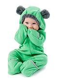 お買い得  男の子用 赤ちゃん ロンパース&カバーオール-赤ちゃん 男の子 活発的 / ベーシック 日常 ソリッド ジッパー 長袖 ワンピース グリーン / 幼児