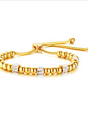 preiswerte Brautjungfernkleider-Damen Glasperlen Strang-Armbänder - Rostfrei Modisch Armbänder Schmuck Gold Für Hochzeit Alltag