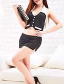 povoljno Zentai odijela-Žene Seksi spavaćica / kineska haljina Noćno rublje - S izrezom Color block