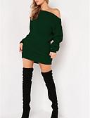 billige Lang Kjole Sweater-Kvinders løse sweater kjole over knæet fra skulderen